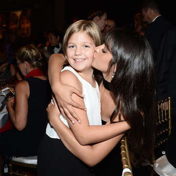 "Save the Children Ambassador Camila Cabello shares a moment with Hope, a Save the Children program participant from Kentucky at Save the Children's ""The Centennial Gala: Changing The World for Children"" gala at The Manhattan Center's Hammerstein Ballroom on September 12, 2019 in New York City. (Photo by Noam Galai/Getty Images for Save The Children)"