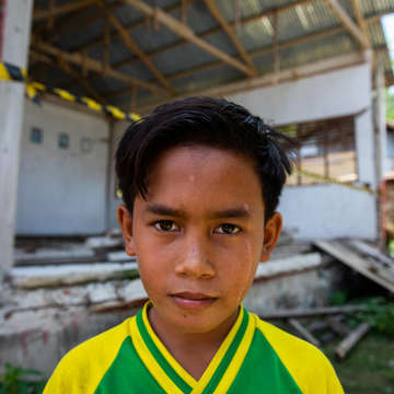 Image of Dika who lives in an Indonesian community that was impacted by the earthquake.