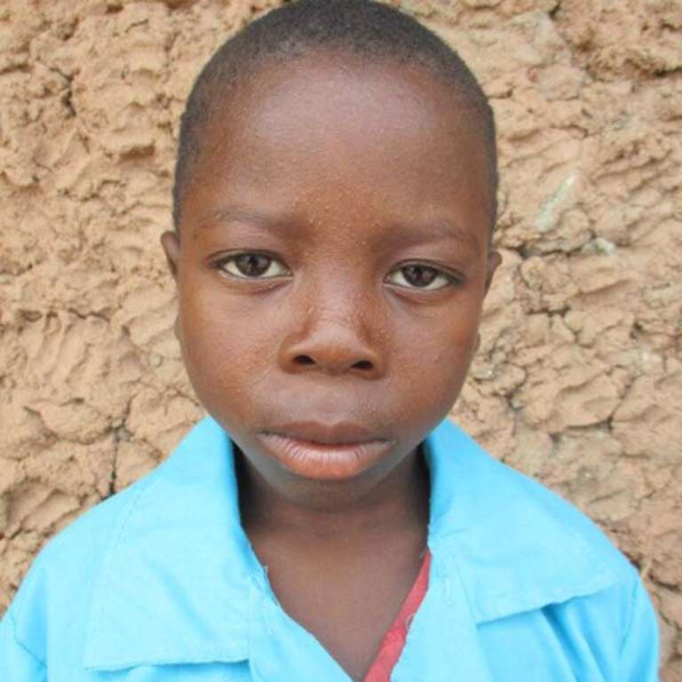 A headshot of Helio, a sponsored child from Mozambique.