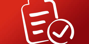 Icon of emergency preparedness plan checklist