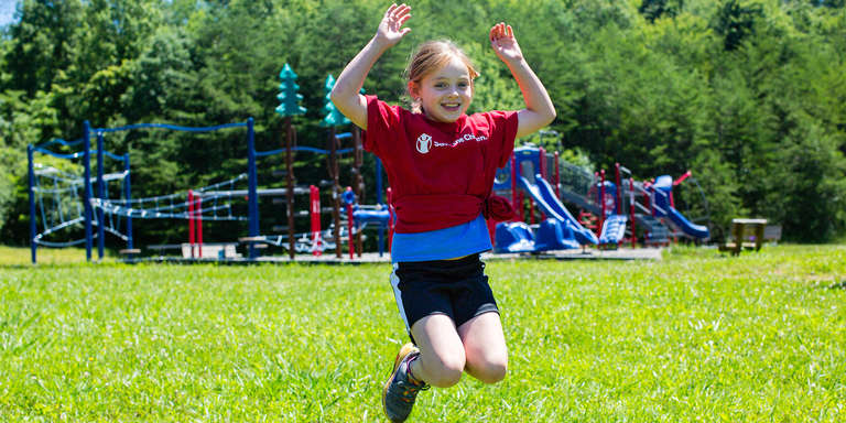 7-year-old Maggie plays outside during recess during Save the Children's SummerBoost Camp in Tennessee. Photo credit: Save the Children, June 2017.