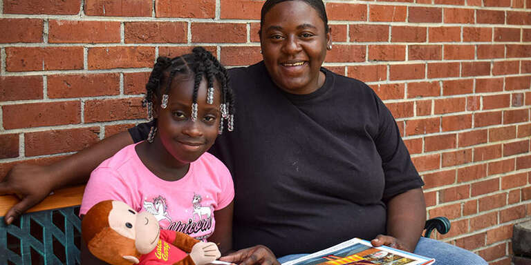 Da'riana, 9 years old, attends Save the Children's Literacy programs in South Carolina.