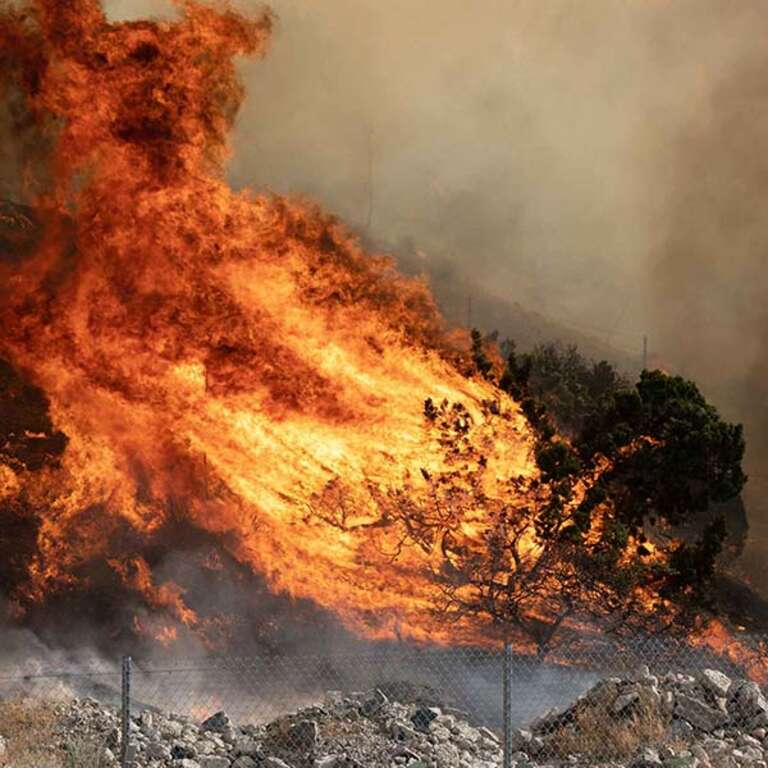 Wildfires blaze across the United States.