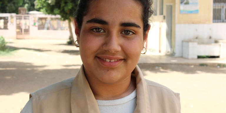 Haneen has learned how to prevent and respond to violence through her participation in sponsorship programs. Photo Credit: Save the Children in Egypt
