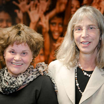 Two women – sponsor, Meredith and a formerly sponsored child, Paula – reunite after 47 years. They joined us at the Save the Children U.S. office to share their inspiring story and meet people from the organization who they say changed their lives. Photo credit: Save the Children, November 2017.